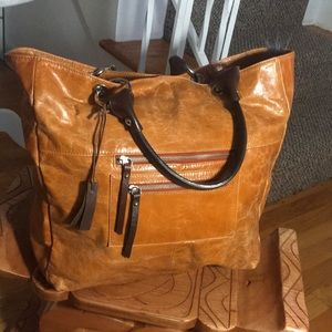 TANO Distressed burnt orange tote bag